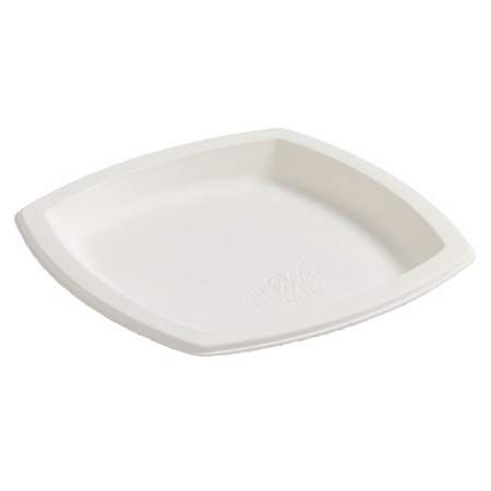 Earth Wise Tree Free 1,000 ct Square Dessert Plate sold in 8 pkgs of 125