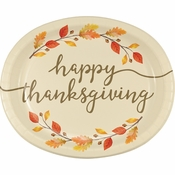 Thankful Oval Plates 96 ct
