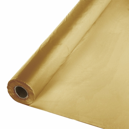 Touch of Color Glittering Gold Banquet Table Roll in quantities of 1 pkg / case