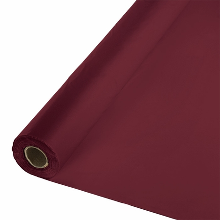 Touch of Color Burgundy Banquet Table Roll in quantities of 1 / pkg, 1 pkg / case