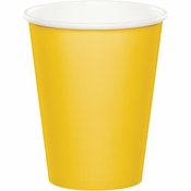 School Bus Yellow 9 oz Hot & Cold Cups 96 ct