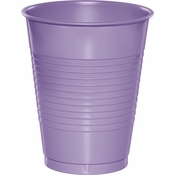 Touch of Color Luscious Lavender 16 oz Plastic Cups in quantities of 20 / pkg, 12 pkgs / case