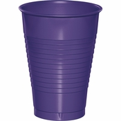 Touch of Color Purple 12 oz Plastic Cups in quantities of 20 / pkg, 12 pkgs / case