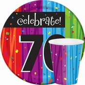 Milestone Celebrations 70th Birthday Party Supplies
