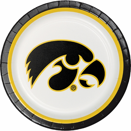 University of Iowa Dinner Plates 96 ct