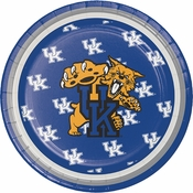 Blue and white University of Kentucky Dessert Plate sold in quantities of 8 / pkg, 12 pkg / case