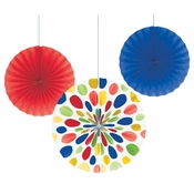 Multicolor Paper Fan Sets 18 ct