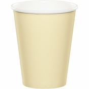 Touch of Color Ivory 9 oz Hot & Cold Cups in quantities of 24 / pkg, 10 pkgs / case