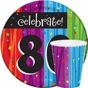 Milestone Celebrations 80th Birthday Party Supplies