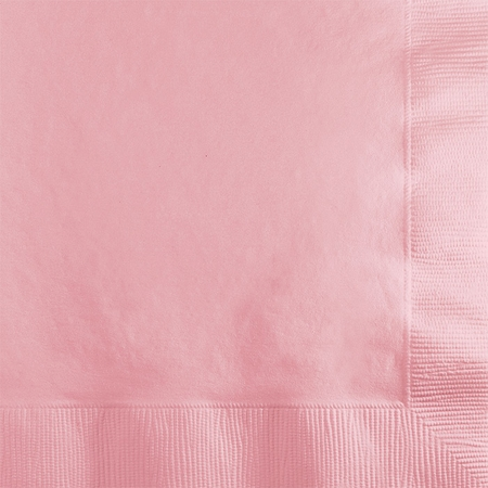 Touch of Color Classic Pink 2 ply Beverage Napkins in quantities of 50 / pkg, 12 pkgs / case