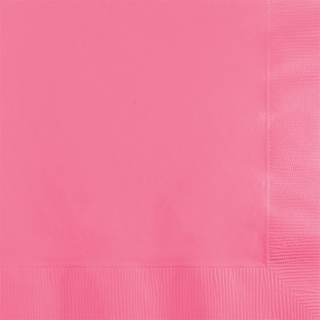 Touch of Color Candy Pink 2 ply Beverage Napkins in quantities of 50 / pkg, 12 pkg / case