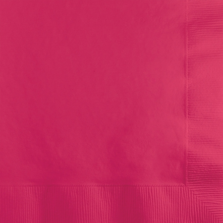 Hot Magenta Beverage Napkins 3 ply 500 ct
