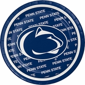 Blue and white Penn State Dessert Plate sold in quantities of 8 / pkg, 12 pkgs / case