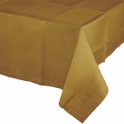 Touch of Color Glittering Gold Paper Tablecloths in quantities of 1 / pkg, 6 pkgs / case