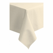 "Ecru Linen-Like 50"" x 108"" Tablecloths sold in quantities of 1 / pkg, 20 pkgs / case"