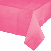 Touch of Color Candy Pink Paper Tablecloths in quantities of 1 / pkg, 12 pkgs / case