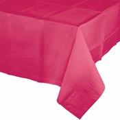 Touch of Color Hot Magenta Paper Tablecloths in quantities of 1 / pkg, 12 pkgs / case