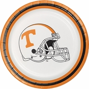 Orange and white Tennessee University Dessert Plate sold in quantities of 8 / pkg, 12 pkgs / case