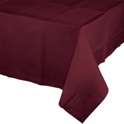 Touch of Color Burgundy Paper Tablecloths in quantities of 1 / pkg, 12 pkgs / case