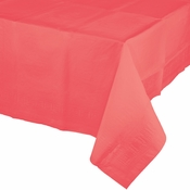 Coral Paper Tablecloths