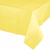 Touch of Color Mimosa Paper Tablecloths in quantities of 1 / pkg, 6 pkgs / case