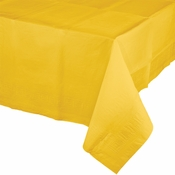 Touch of Color School Bus Yellow Paper Tablecloths in quantities of 1 / pkg, 12 pkgs / case