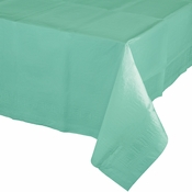 Fresh Mint Paper Tablecloths 6 ct