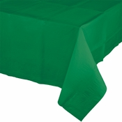 Touch of Color Emerald Green Paper Tablecloths in quantities of 1 / pkg, 6 pkgs / case