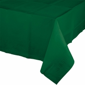 Touch of Color Hunter Green Paper Tablecloths in quantities of 1 / pkg, 6 pkgs / case