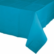 Touch of Color Turquoise Paper Tablecloths in quantities of 1 / pkg, 12 pkgs / case
