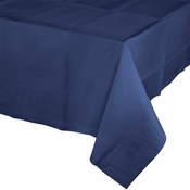 Touch of Color Navy Paper Tablecloths in quantities of 1 / pkg, 6 pkgs / case