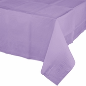 Touch of Color Luscious Lavender Paper Tablecloths in quantities of 1 / pkg, 6 pkgs / case