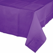 Amethyst Purple Paper Tablecloths 6 ct