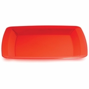 For contemporary styling at competetive prices, choose the Translucent Red TrendWare Square Banquet Plate 48 ct sold in quantities of 6 / pkg, 8 pkgs / case