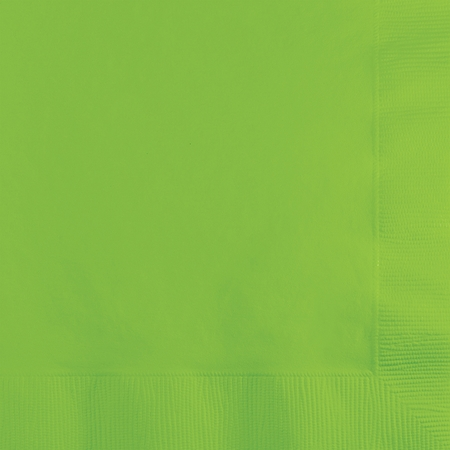 Fresh Lime Green Beverage Napkins 3 ply 500 ct