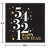 Golden New Year Luncheon Napkins 192 ct