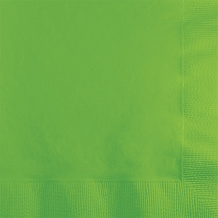 Touch of Color Fresh Lime 2 ply Beverage Napkins 600 ct in quantities of 50 / pkg, 12 pkgs / case