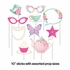 Floral Tea Party Photo Booth Props 60 ct
