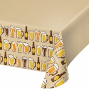 Cheers and Beers Plastic Tablecloths 6 ct