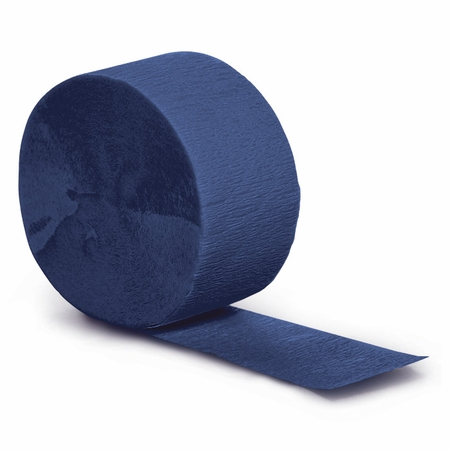 Touch of Color Navy Crepe Streamer in quantities of 1 / pkg, 12 pkgs / case