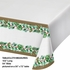 Golden Holly Plastic Tablecloths 12 ct