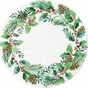 Golden Holly Dinner Plates 96 ct