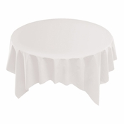 "White Linen-Like 72"" x 72"" Tablecloths are sold in quantities of 1 / pkg, 24 pkgs / case"