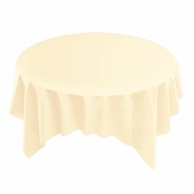 "Ecru Linen-Like Square Tablecloths measures 82"" x 82""  sold in quantities of 1 / pkg, 12 pkgs / case"