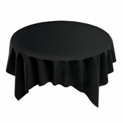 "Black Linen-Like 82"" x 82"" Square Tablecloths sold in quantities of 1 / pkg, 12 pkgs / case"