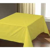"54"" x 54"" Sun Yellow Paper Tablecloths 50 ct"