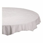 "White Cellutex Octy-Round 72"" Paper Tablecloths are sold in quantities of 1 / pkg, 25 pkgs / case"