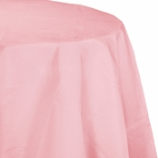 Touch of Color Classic Pink Octy-Round Paper Tablecloths in quantities of 1 / pkg, 12 pkgs / case
