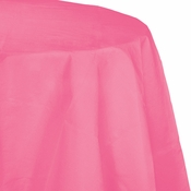 Touch of Color Candy Pink Octy-Round Paper Tablecloths in quantities of 1 / pkg, 12 pkgs / case