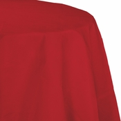 Touch of Color Classic Red Octy-Round Paper Tablecloths in quantities of 1 / pkg, 12 pkgs / case